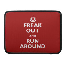Freak Out And Run Around Macbook Pro Sleeve at Zazzle