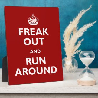 Freak Out and Run Around Display Plaques
