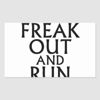 freak out and run around tees.png rectangular sticker