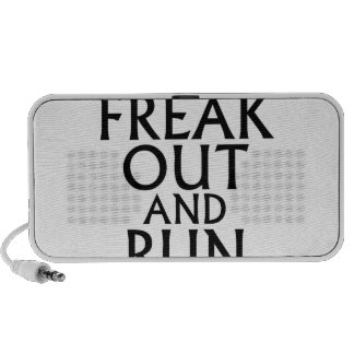 freak out and run around tees png mp3 speakers