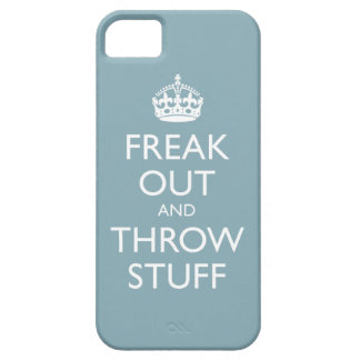 Freak Out and Throw Stuff (light blue) iPhone SE/5/5s Case