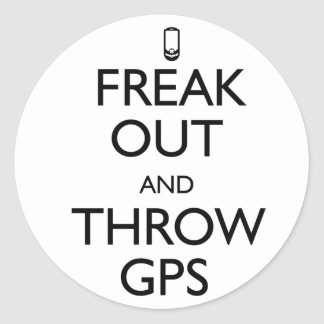 Freak Out Classic Round Sticker