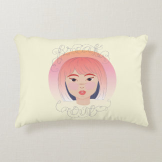 Freak Out: Drawing of a Girl Decorative Pillow