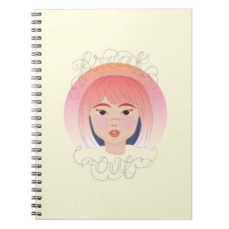Freak Out: Drawing of a Girl Note Books