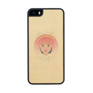 Freak Out: Drawing of a Girl Wood Phone Case For iPhone SE/5/5s