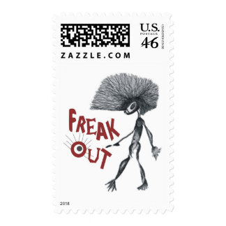 FREAK OUT POSTAGE STAMP