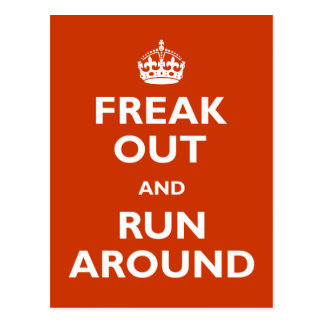 Freak Out & Run Around Post Cards