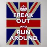 Freak Out & Run Around Print