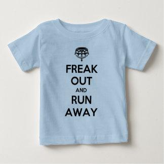 Freak Out Run Away Keep Calm Carry On Baby T-Shirt