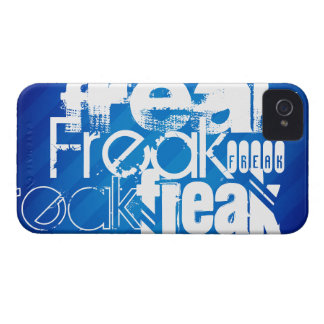 Freak; Royal Blue Stripes Case-Mate iPhone 4 Case
