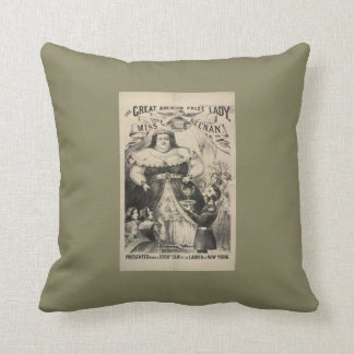 Freak Show American Prize Lady Throw Pillow