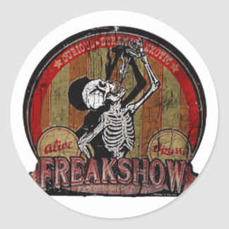 Freak Show Classic Round Sticker