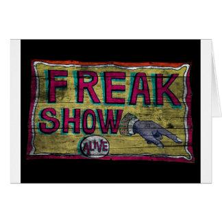Freak Show Vintage Banner Card