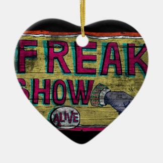 Freak Show Vintage Banner Ceramic Ornament