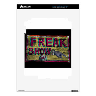 Freak Show Vintage Banner Decal For The iPad 2
