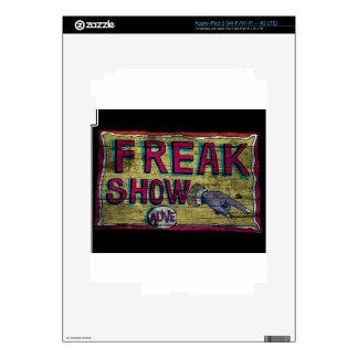 Freak Show Vintage Banner Decals For iPad 3
