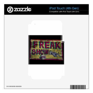 Freak Show Vintage Banner iPod Touch 4G Skins