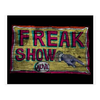 Freak Show Vintage Banner Postcard