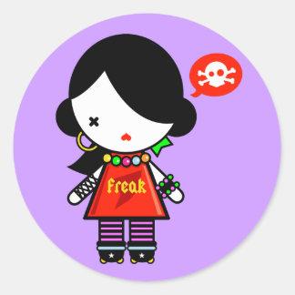 Freak Round Stickers