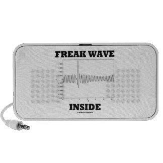 Freak Wave Inside Oceanography Humor Portable Speaker