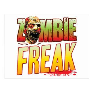 Freak Zombie Head Postcard