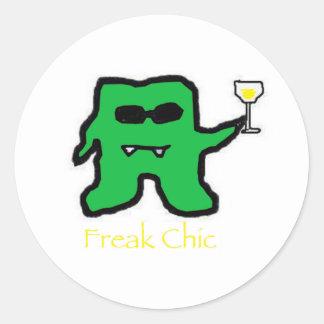 Freakchicgreen Classic Round Sticker