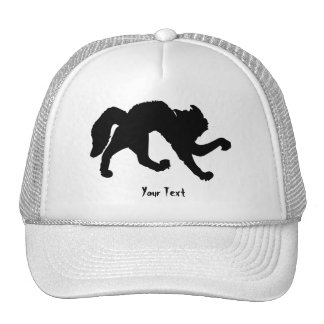 Freaked out black cat mesh hats