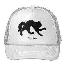 Freaked out black cat trucker hat