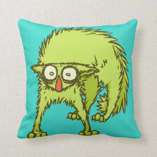 Freaked out Cat Throw Pillow
