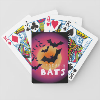 Freakin' Bats Halloween ID223 Bicycle Playing Cards