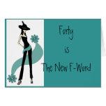 Freakin' Fabulous 40th Birthday Card for Women
