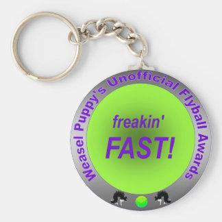 Freakin' Fast Flyball Award Keychain