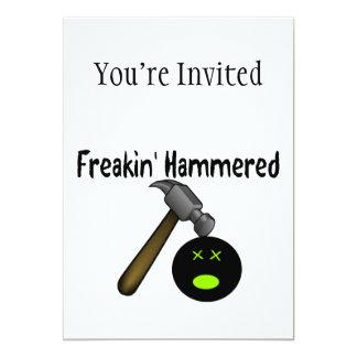 Freakin Hammered 5x7 Paper Invitation Card