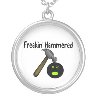 Freakin Hammered Silver Plated Necklace