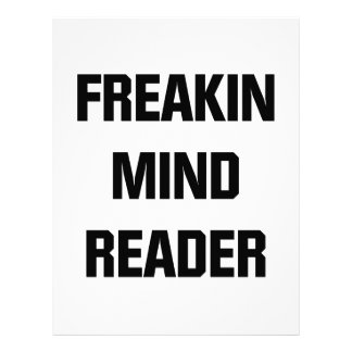 Freakin Mind Reader Letterhead