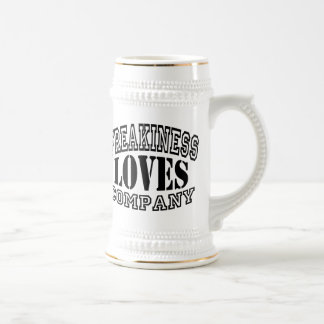 Freakiness Loves Company Beer Stein