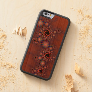 Freaking Fractal over wood Carved Cherry iPhone 6 Bumper Case
