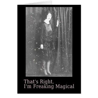 Freaking Magical Halloween Card