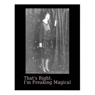 Freaking Magical Vintage Photo Art Postcard