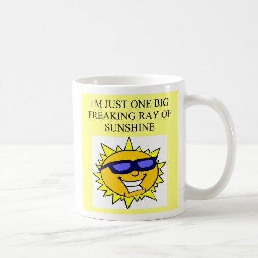 freaking ray of sunshine, freaking ray of sunshine coffee mug