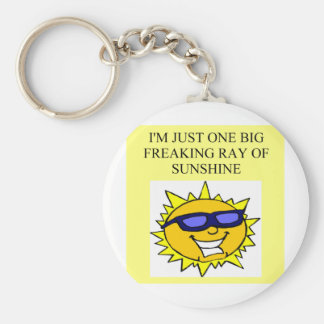 freaking ray of sunshine keychain