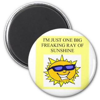 freaking ray of sunshine magnet