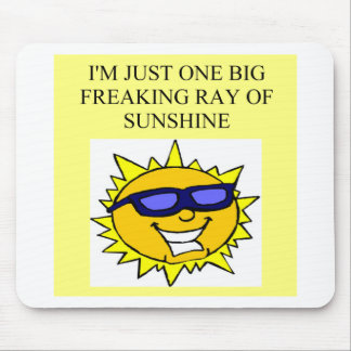 freaking ray of sunshine mouse mats