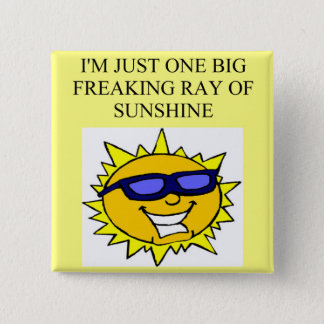 freaking ray of sunshine pinback button