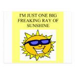 freaking ray of sunshine post card