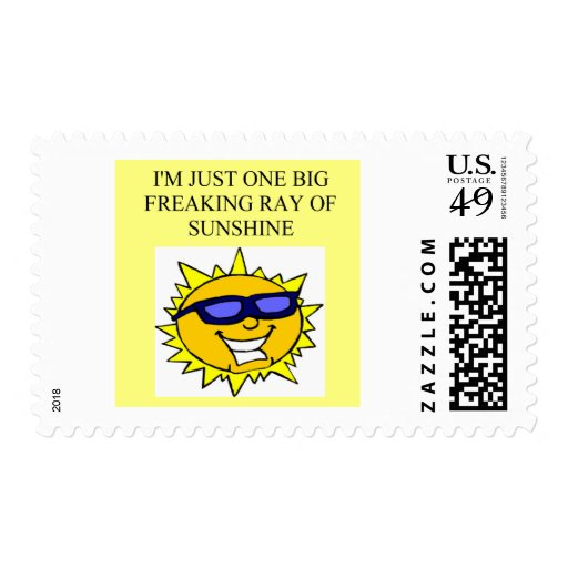 freaking ray of sunshine stamps