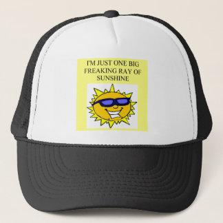 freaking ray of sunshine trucker hat