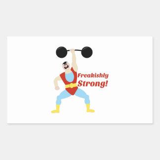 Freakishly Strong Rectangular Sticker