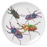 Freakly stag beetles insect gifts and accessories dinner plate
