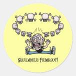 ¡Freakout de Skulladelic! Pegatinas Redondas